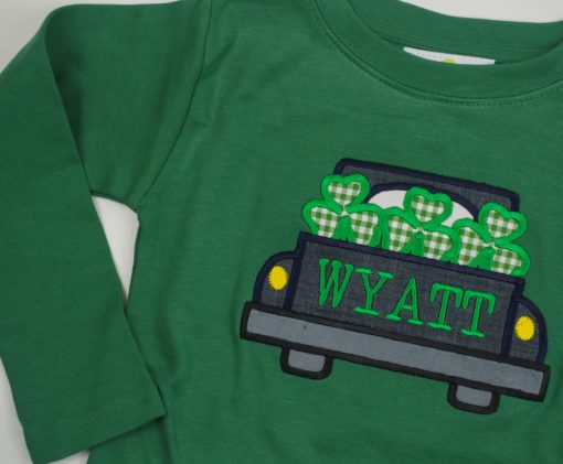 monogrammed st patricks day shirt for boys