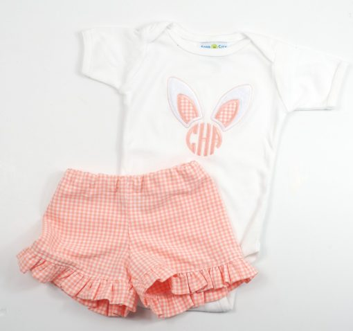 easter monogram outfit for girls