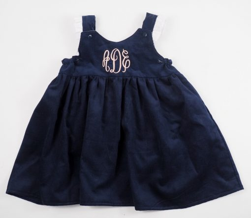 baby girl navy pinafore style dress