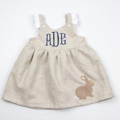 linen easter dress for girls