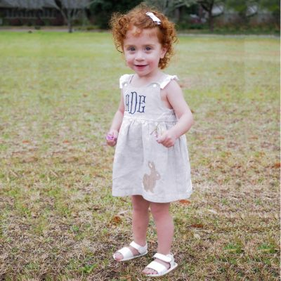 linen easter dress personalized