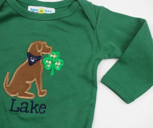 21 monogrammed baby st patricks day green shirt