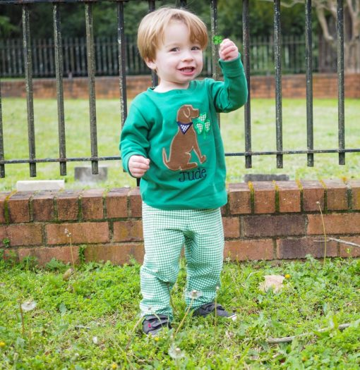 st patricks day outfit monogrammed