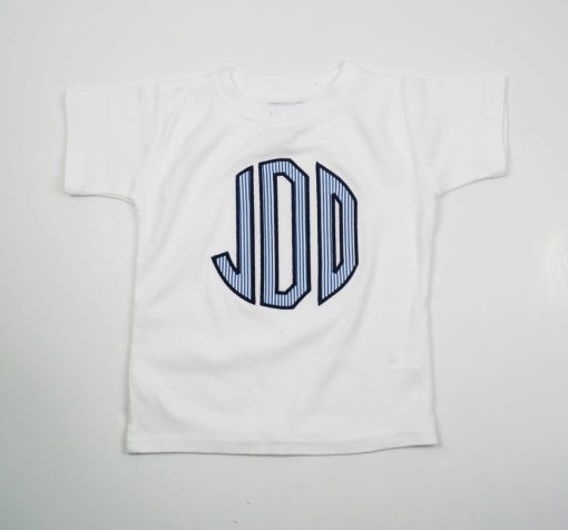 monogrammed initial applique tee for boys