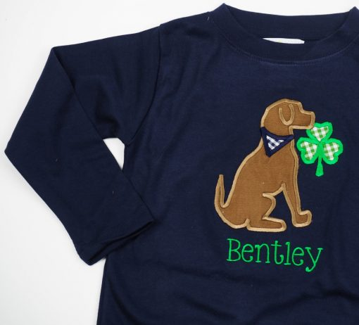 monogrammed st patricks day shirt