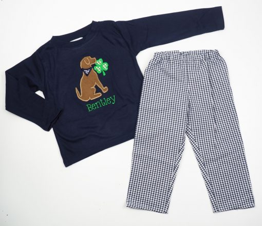 st patricks applique outfit