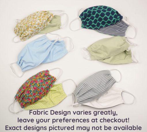 fabric masks handmade elastic loops pockets washable