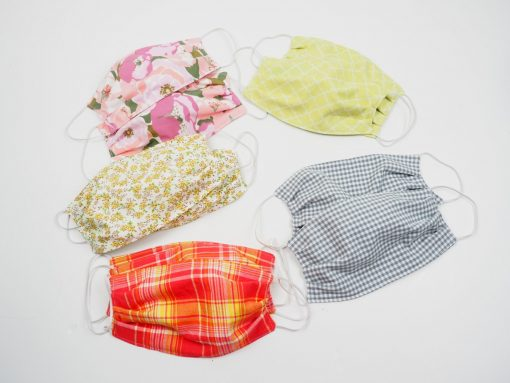 handmade masks donated to healthcare offices by seamstresses