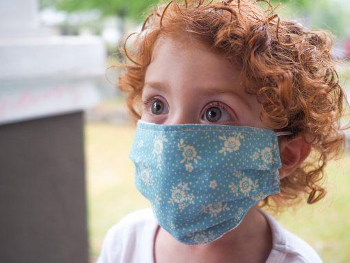 toddler face mask fun prints for girl