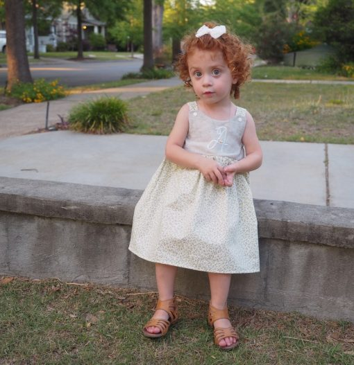 personalized linen dress for toddlers