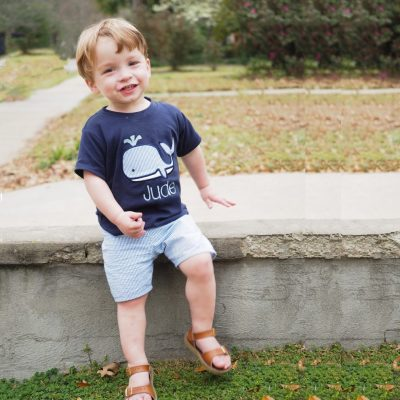 little boy seersucker shorts set