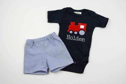 train bodysuit for baby boys