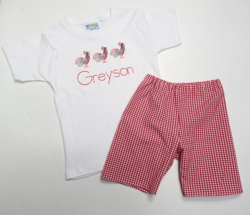 personalized kids gamecock outfit shorts set