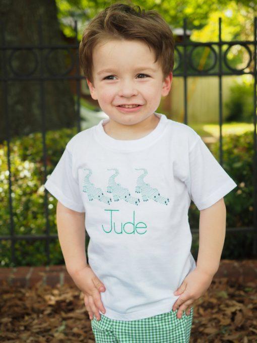 little boy alligator shirt and shorts set