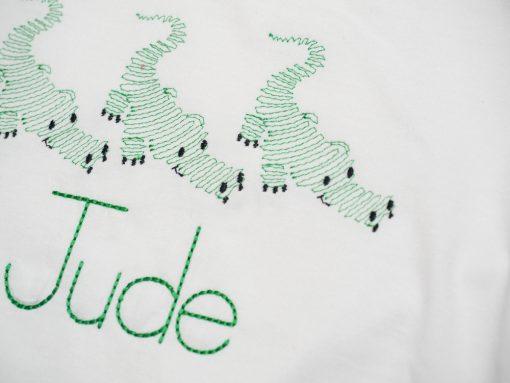 swirly embroidery toddler shirt
