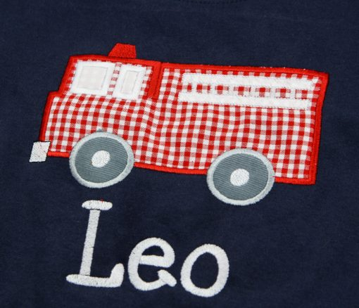 appliqued personalized shirt for toddler
