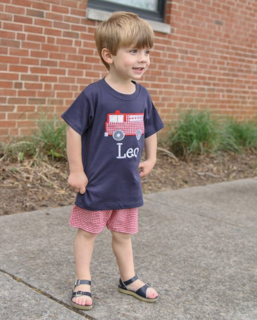 monogrammed outfit for little boys