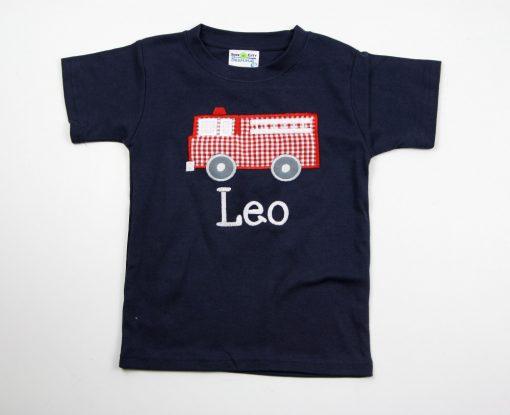 fire truck shirt for boys