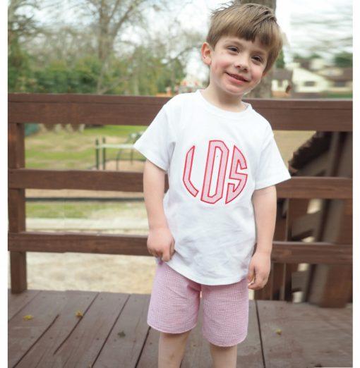 monogram shirt for boys