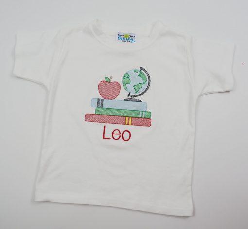 sketch embroidery school shirt boys
