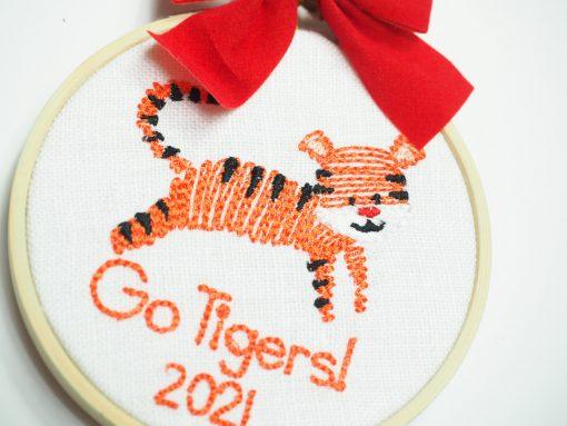 clemson go tigers ornament